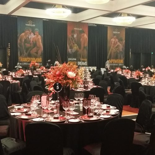 The Crown Ballroom ready for guests